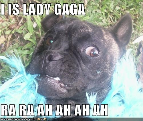 I IS LADY GAGA  RA RA AH AH AH AH