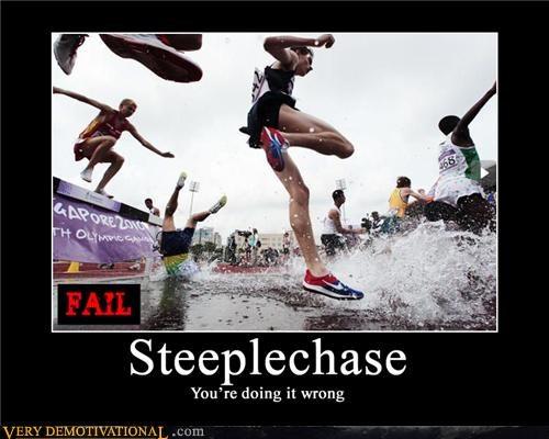 steeplechase,race,doing it wrong