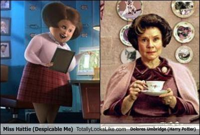Miss Hattie (Despicable Me) Totally Looks Like Dolores Umbridge (Harry Potter)