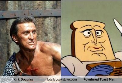 Kirk Douglas Totally Looks Like Powdered Toast Man