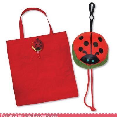 Ladybug Folding Bag