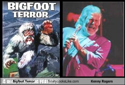 Bigfoot Terror Totally Looks Like Kenny Rogers