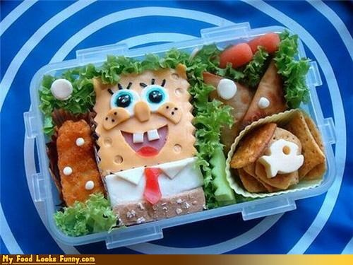 animation,bento,box,cartoons,meal,sandwich,SpongeBob SquarePants