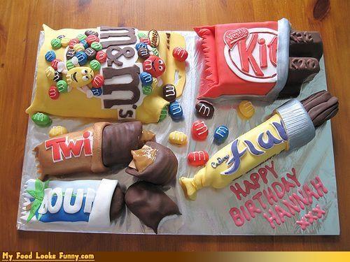 birthday,birthday cake,cake,candy,kit kat,mms,Sweet Treats,twix