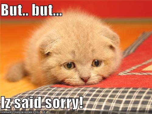 But.. but...   Iz said sorry!