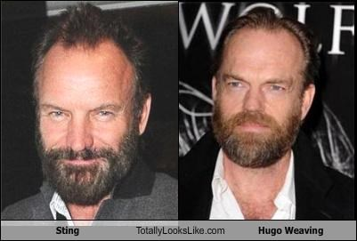 Sting Totally Looks Like Hugo Weaving