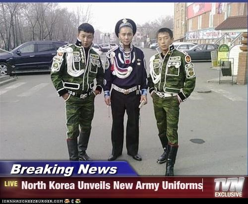 Breaking News - North Korea Unveils New Army Uniforms