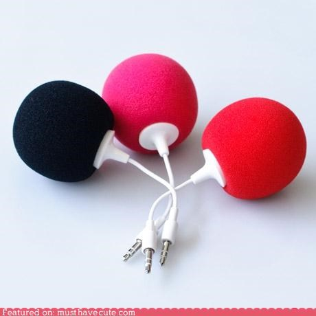 accessory,Balloons,car,colorful,cute,electronics,gadget,ipod,Music,Office,portable,speakers,whimsical