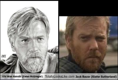 Obi Wan Kenobi (Ewan McGregor) Totally Looks Like Jack Bauer (Kiefer Sutherland)