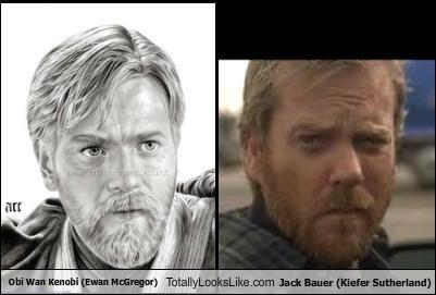 Obi Wan Kenobi (Ewan McGregor) Totally Looks Like Jack Bauer (Kiefer Sutherland)