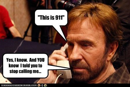 It ain't easy being Chuck Norris...