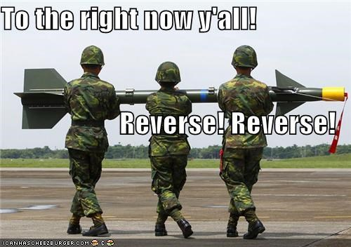 To the right now y'all! Reverse! Reverse!