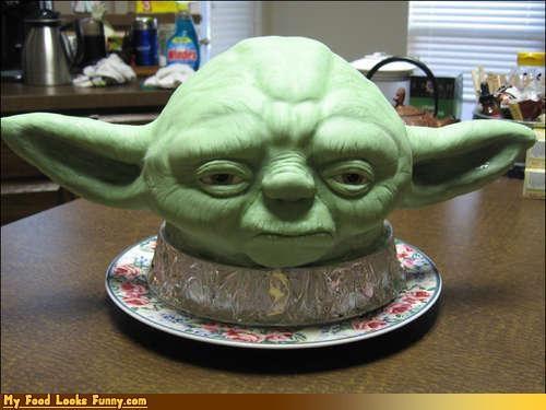 cake,characters,Jedi,movies,star wars,Sweet Treats,yoda,yoda cake