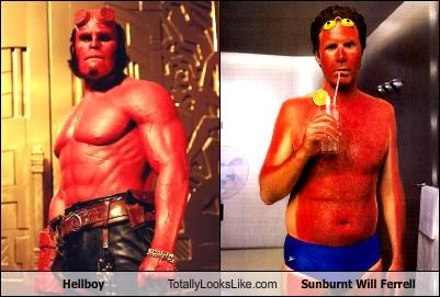 Hellboy Totally Looks Like Sunburnt Will Ferrell