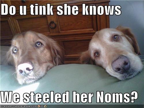 Do u tink she knows  We steeled her Noms?