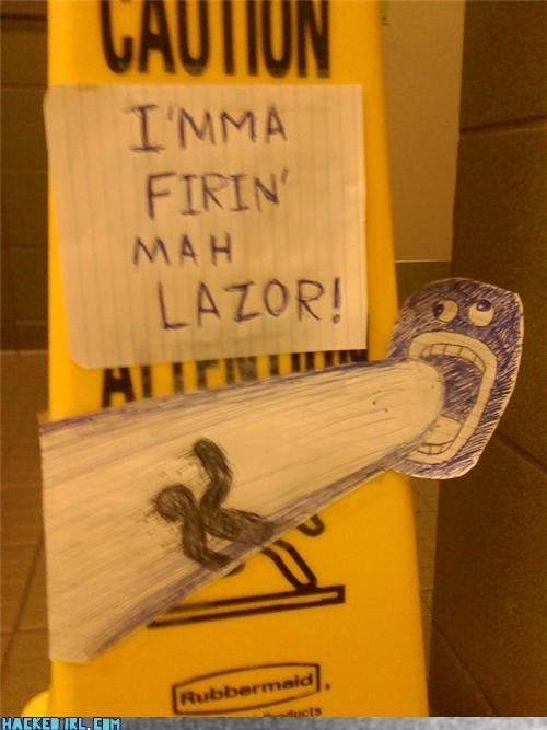 Lazor Caution