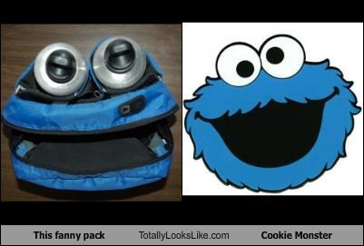 This fanny pack Totally Looks Like Cookie Monster