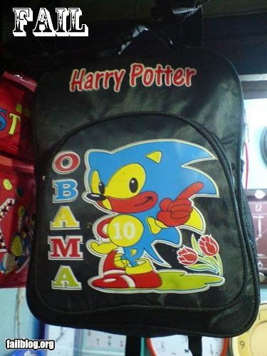 Harry Potter Obama Sonic bag