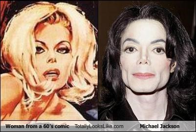 Woman from a 60's comic Totally Looks Like Michael Jackson