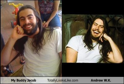 My Buddy Jacob Totally Looks Like Andrew W.K.