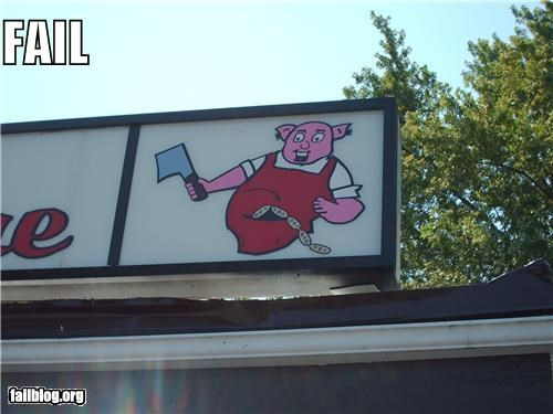 Butcher Shop Sign Fail