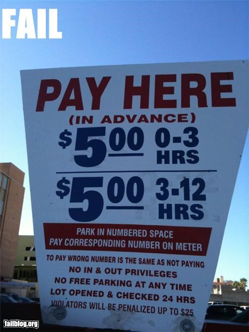 Sign at Tucson Parking Lot