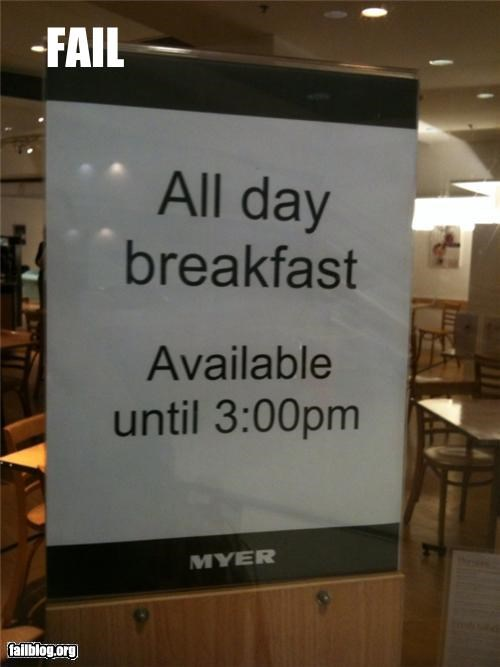 All Day Breakfast Fail