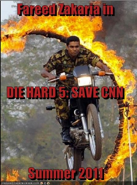 Fareed Zakaria in DIE HARD 5: SAVE CNN Summer 2011