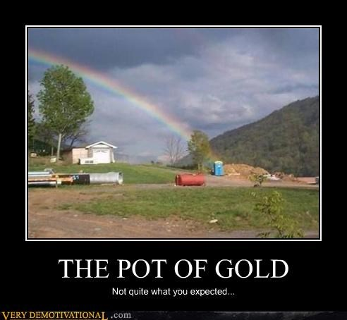 gold,Hall of Fame,hilarious,honey bucket,leprechaun,money,poop,porta potty,rainbow,Sad,urine