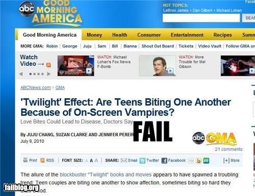 Probably Bad News: Twilight Fans Fail