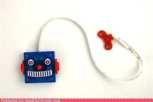 cute tape measures,robots