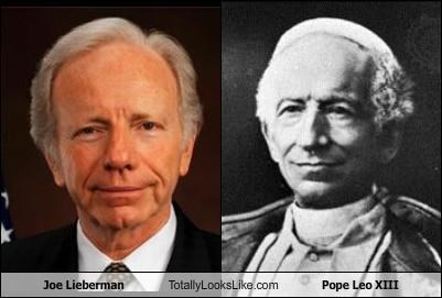 Joe Lieberman Totally Looks Like Pope Leo XIII