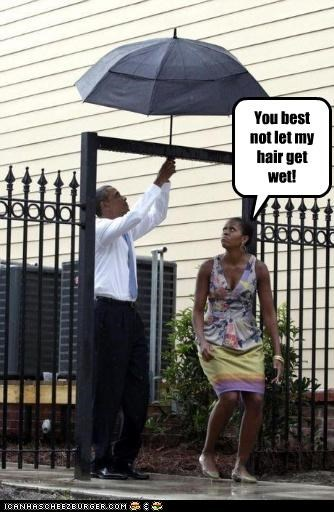 You best not let my hair get wet!