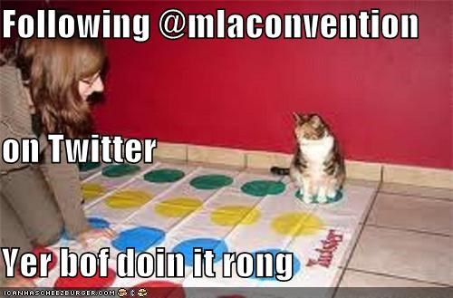 Following @mlaconvention on Twitter Yer bof doin it rong