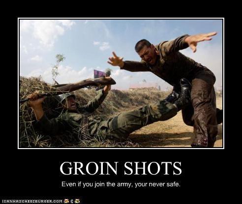 GROIN SHOTS