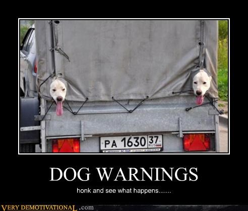 DOG WARNINGS
