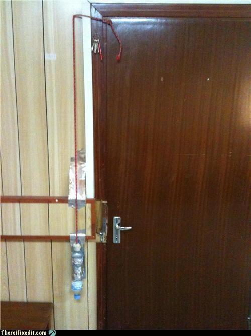 counter weight,door,hinge,Kludge,MAD SCIENCE,water bottle