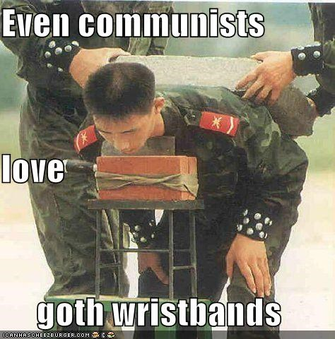 Even communists love goth wristbands