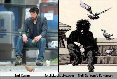 Sad Keanu Totally Looks Like Neil Gaiman's Sandman