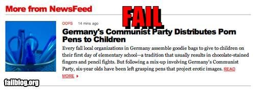 communist party,failboat,pens,pr0n,Probably bad News,school supplies