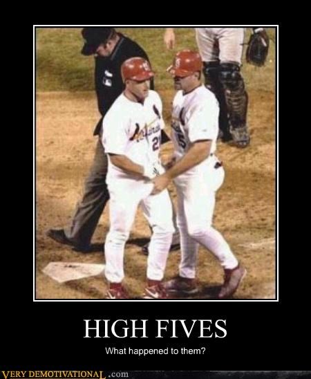 baseball,bros,crotch grab,high fives,Terrifying