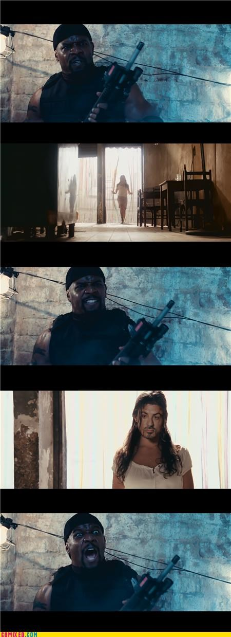 action movies,actors,freaky,From the Movies,gender issues,Sylvester Stallone,The Expendables