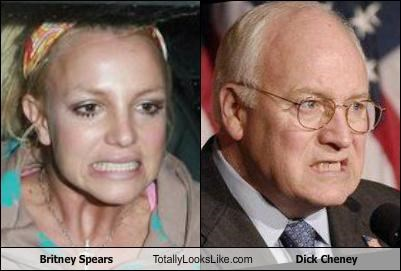Britney Spears Totally Looks Like Dick Cheney