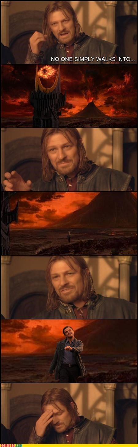 From the Movies,leonardo dicaprio,Lord of the Rings,mordor,walking