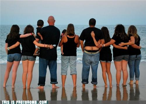 awesome,beach,butts,cute,family portrait,family portraits,moon,photobomb