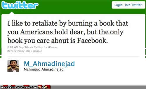 Touche' Ahmadinejad, Touche'...