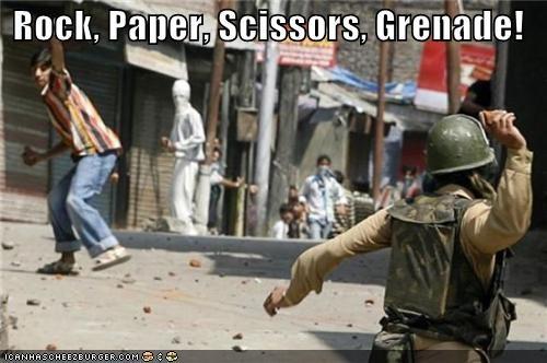 Rock, Paper, Scissors, Grenade!