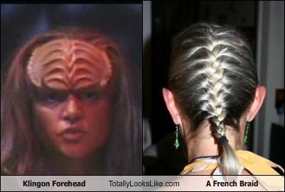 Klingon Forehead Totally Looks Like A French Braid
