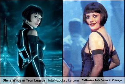 Olivia Wilde in Tron Legacy Totally Looks Like Catherine Zeta Jones in Chicago
