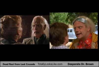 Dead Nazi from Last Crusade Totally Looks Like Desperate Dr. Brown